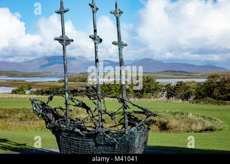 The National Famine Memorial at Murrisk, County Mayo, Ireland. - Stock Photo