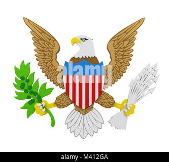 Seal of the President of the United States Isolated - Stock Photo