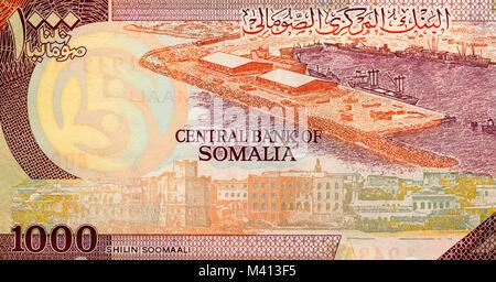 Somalia one thousand 1000 Shilling Bank Note - Stock Photo