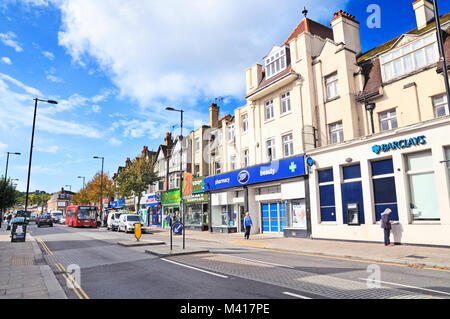 Coulsdon High Street, Surrey, London Borough of Croydon, Greater London, UK - Stock Photo