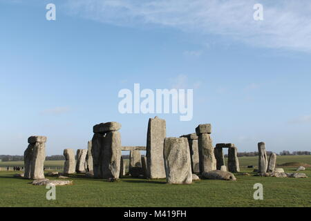 A picture of Stonehenge - Stock Photo