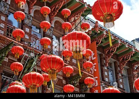 chinese lantern in china town San Francisco - Stock Photo