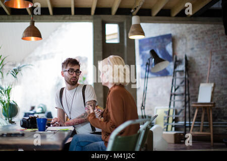 Two entrepreneurs in a business meeting - Stock Photo