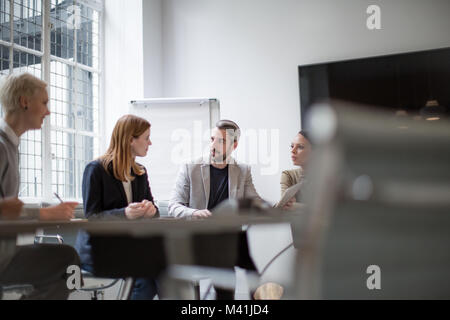 Business executives in a team meeting Stock Photo