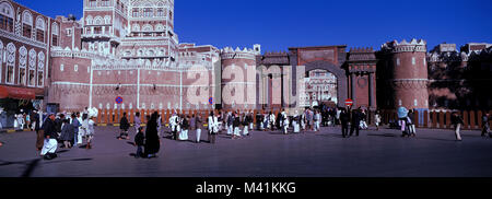 Yemen, old town of Sanaa, Bab al Yemen - Stock Photo