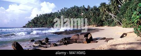 Sri Lanka, the beach of Mirissa - Stock Photo
