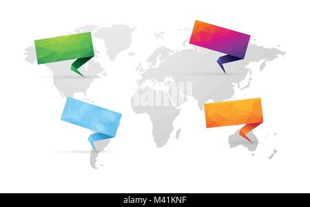 World map isolated stock vector art illustration vector image set of colored sign with blue world map isolated stock photo gumiabroncs Images