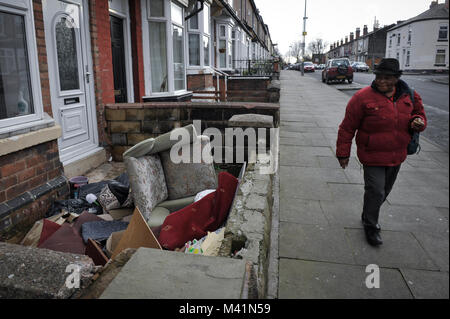 Benefits Street. Pictured is James Turner Street in the Winston Green area of Birmingham. It was filmed for a documentary - Stock Photo