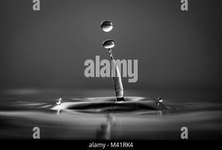 Monochrome Water Splash - Stock Photo