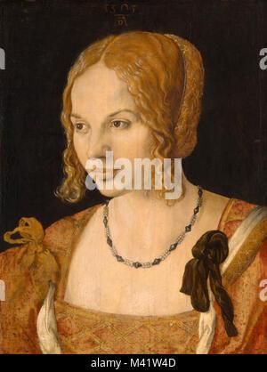 Albrecht Dürer, Portrait of a Young Venetian Woman, 1505, Oil on panel, - Stock Photo