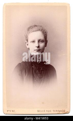 Studio portrait of Ethel Margaret Jupp, born 1874: Victorian photograph, circa 1895 - Stock Photo