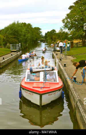 Culham Lock on the River Thames Oxfordshire - Stock Photo