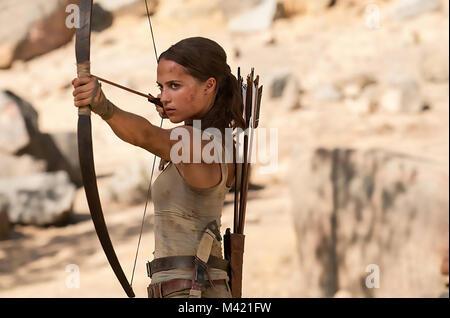 TOMB RAIDER 2018 MGM film with Alicia Vikander - Stock Photo