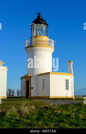 Chanonry Lighthouse at Chanonry Point on the Black Isle in Ross & Cromarty, Highland Region, Scotland - Stock Photo