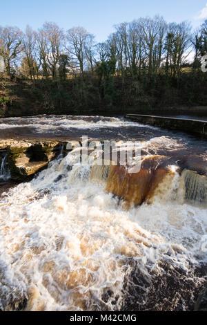 Richmond Falls on the river Swale, Richmond, North Yorkshire, England, UK - Stock Photo