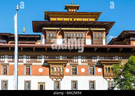 Punakha, Bhutan.  Punakha Dzong (Fortress/Monastery). - Stock Photo