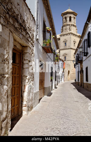 Baeza, Andalusia, Spain. A typical street in Baeza village. - Stock Photo