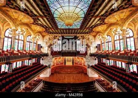 Barcelona Theater Symmetry taken in 2015 - Stock Photo