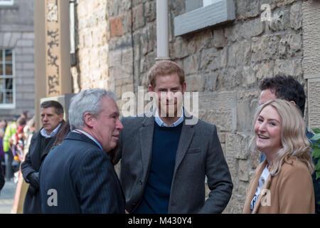 Edinburgh, UK. 13th February, 2018.  Prince Harry and his fiance Meghan Markle Made a visit to edinburgh today 13 - Stock Photo