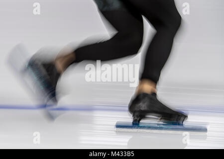 Pyeongchang, South Korea. 14th February, 2018. general view, Speed Skating, Men's 1.500m, Olympic Winter Games PyeongChang - Stock Photo