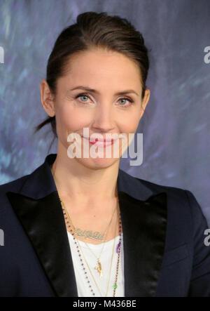 Los Angeles, California, USA. 13th February, 2018. Actress Tuva Novotny attends the LA Premiere of 'Annihilation' - Stock Photo