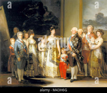 Francisco Goya, Charles IV of Spain and His Family, 1800 - Stock Photo