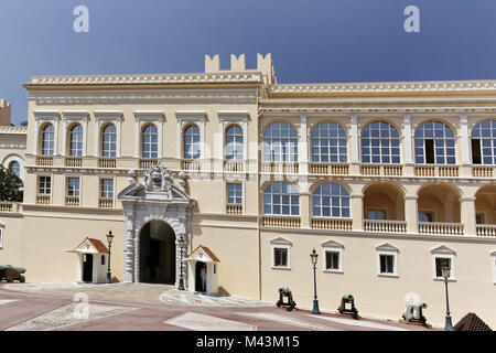 Prince's Palace of Monaco, Royal Palace, Monaco - Stock Photo