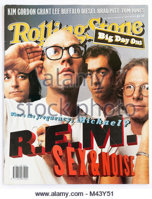 The cover of Rolling Stone magazine, issue 505, REM - Stock Photo