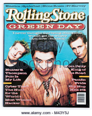 The cover of Rolling Stone magazine, issue 510, Green Day - Stock Photo