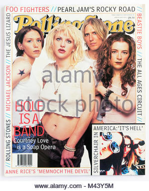 The cover of Rolling Stone magazine, issue 513, Hole - Stock Photo