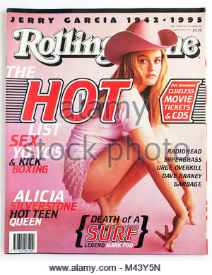 The cover of Rolling Stone magazine, issue 514, Alicia Silverstone - Stock Photo