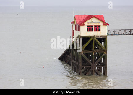 The old Mumbles Lifeboat Station near Swansea, Wales - Stock Photo