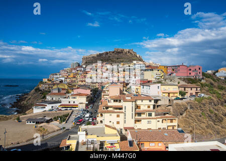 Overlook over Castelsardo,Sardinia,Italy - Stock Photo