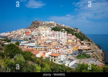 View of Castelsardo,Sardinia,Italy - Stock Photo