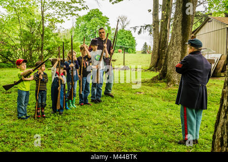 Litchfield County Connecticut Remembers Cold Harbor- 150 Year Anniversary _ Litchfield, Connecticut, USA - Stock Photo