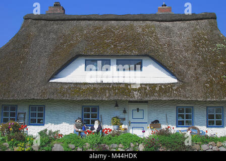 typical House in Schleswig Holstein in Germany - Stock Photo