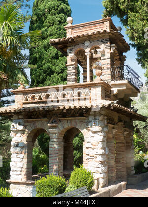 Taormina in Sicily: a folly in the public gardens (Giardini della Villa Comunale) - Stock Photo