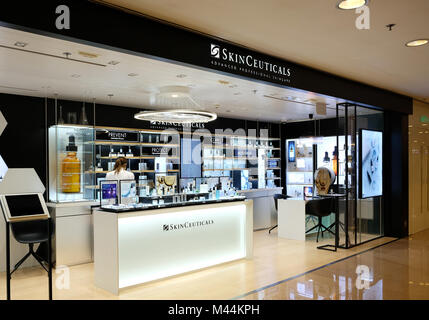 HONG KONG - FEBRUARY 4, 2018: SkinCeuticals shop in Hong Kong. SkinCeuticals is a skin care line founded in 1997 - Stock Photo