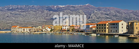 Town of Vinjerac in front of Paklenica National park - Stock Photo