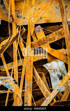 heap of rusty metal-scrap - Stock Photo