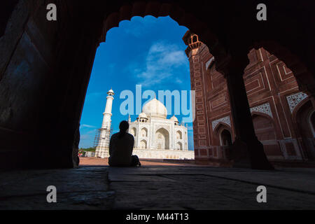 Taj Mahal, Agra, Uttar Pradesh, India - Stock Photo