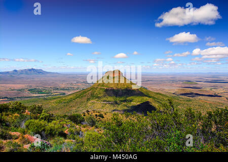 Colorful panorama view of a bizarre landmark mountain in the Valley of Desolation, Graaff Reinet,Karoo,Camdeboo,South - Stock Photo