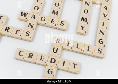 Scrabble - Wages Stock Photo: 69573252 - Alamy