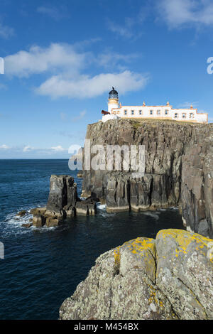 Neist Point Lighthouse near Glendale, Isle of Skye, Scotland. Neist Point is the most westerly point on the Isle - Stock Photo