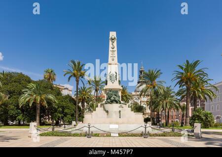 Plaza Héroes de Cavite, Region of Murcia, Cartagena, Spain - Stock Photo