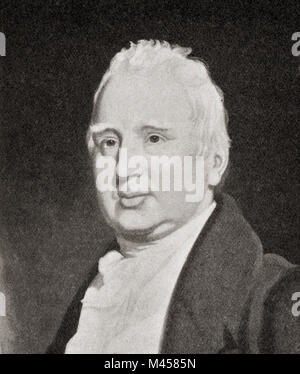 William Cobbett , 1763 – 1835. English pamphleteer, farmer, journalist and member of parliament.  From The Martyrs - Stock Photo