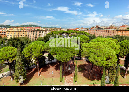 View from Castel Sant#39;Angelo on Parco Adriano. Rome, Italy. - Stock Photo