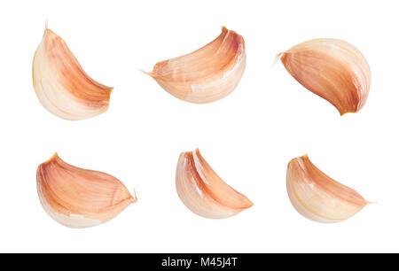 garlic clove path isolated - Stock Photo