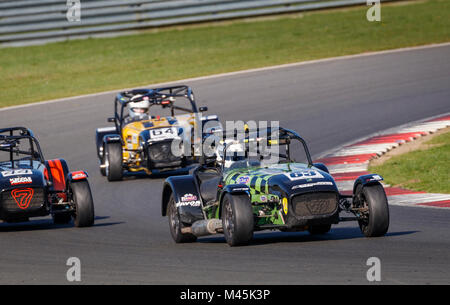 2013 Caterham Supersport with driver Pete Basterfield during the CSCC Gold Arts Magnificent Sevens race at Snetterton - Stock Photo