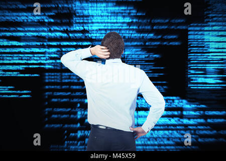 Composite image of thinking businessman scratching head - Stock Photo